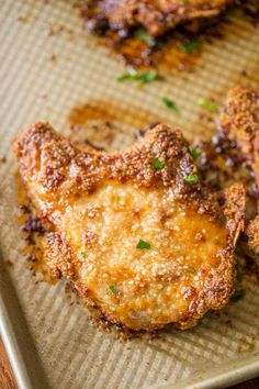 Shake and Bake Pork Chops. Shake and Bake Pork Chops Recipes Shake and Bake Pork Chops with homemade shake and bake mix baked on a sheet pan. A perfect homemade natural copycat with dinner done in jus. Pork Chop Recipes, Meat Recipes, Slow Cooker Recipes, Cooking Recipes, Recipies, Pork Meals, Shrimp Recipes, Kitchen Recipes, Cooking Ideas