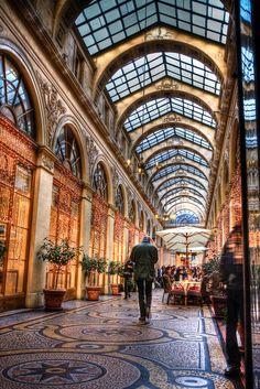 Passage near Place Vendome in Paris, France