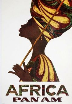 Africa Pan Am travel poster. BelAfrique - Your Personal Travel Planner - www.belafrique.com