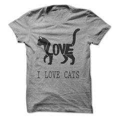 I Love Cats T Shirt for men #cats #cat