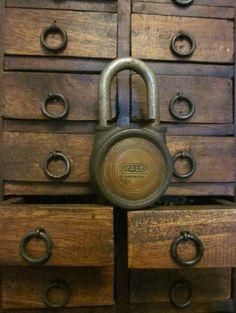 http://www.etsy.com/listing/82762397/antique-yale-lock-unlocked-no-key