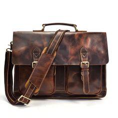 dd2f0706369b VINTAGE LEATHER MENS Large BRIEFCASEs BUSINESS BRIEFCASE Cool SHOULDER BAG  HANDBAGS FOR MEN