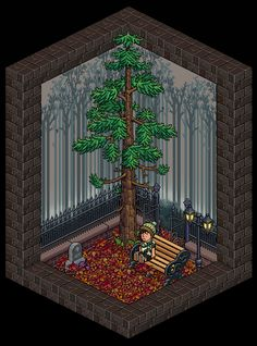 sala muy sad creada por Mendozx Habbo Hotel, 8 Bits, Pixel Art, Room Ideas, Cosplay, Games, Painting, Decor, Isometric Art