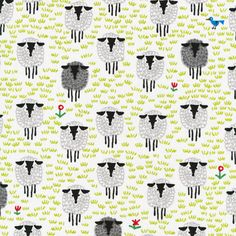 Sheep  from Ed Emberley's Happy Drawing, Too! by Ed Emberley for Cloud9 Fabrics