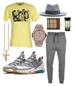 """Laid Back Flow"" by michaelmartin714 ❤ liked on Polyvore featuring NIKE, HUGO, Bulk, Maison Michel, Hublot, Burberry, Yves Saint Laurent, men's fashion and menswear"