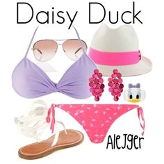 Disney Character Outfits, Disney Themed Outfits, Disney Bound Outfits, Girly Outfits, Cute Outfits, Disney Inspired Fashion, Disney Fashion, Disney Bathing Suit, Donald And Daisy Duck