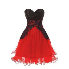 Topdress Women's Sweetheart Bridesmaid Short Prom Homecoming Party... (78 RON) ❤ liked on Polyvore featuring dresses, red cocktail dress, sweetheart neckline prom dress, prom dresses, short cocktail dresses and red homecoming dresses