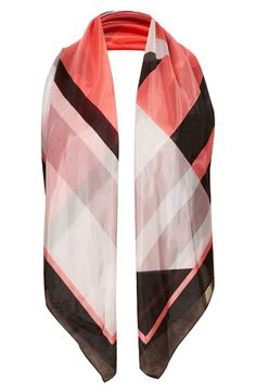 Want! Pink scarf with British attitude