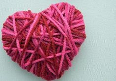 Cute & simple yarn hearts