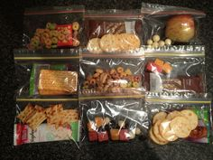 Airplane food bags for everyone to carry in their own luggage