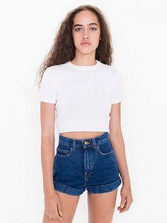 American Apparel High-Waist Jean Cuff Short $58.00 <3 <3 <3
