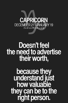 #capricorn #worth