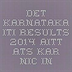 DET Karnataka ITI Results 2014 AITT ATS kar.nic.in