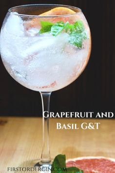 Bring some Mediterranean flair to your next gin and tonic by adding some grapefruit and basil flavors. Go for herbal and citrus tones! Tonic Water, Gin And Tonic, Gin Cocktail Recipes, Cocktails, Grapefruit Juice, Alcoholic Drinks, Beverages, Basil, Herbalism