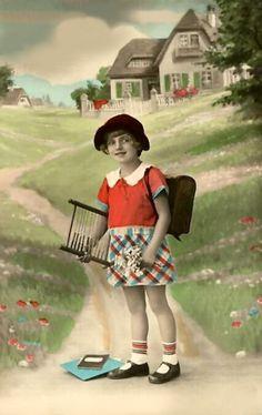 Vintage School Girl