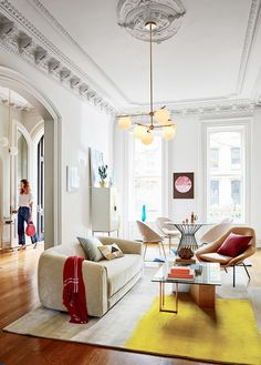 """Color is a key part of perfecting this trend. """"I like starting with neutrals then adding a cool-tone palette,"""" says Uurasjarvi. Don't stop there, though. """"Then, go back and add a pop of accent..."""