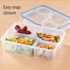 Divided Lunch Container Lunch Containers, Carrot Dip, Divided Plates, Boite A Lunch, Food Storage, Storage Ideas, Food To Go, Bento Box Lunch