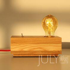 Журнал июля современный краткое лампа светильник из дерева настольная лампа