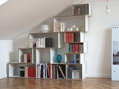 Regal für Dachschrägen - Modulares Regalsystem | stocubo.de