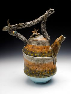 Porcelain Fish Teapot (One of a Kind). $200.00, via Etsy.