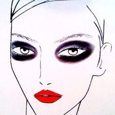 La inspiración @Estee Lauder #tompecheux @DerekLamNYC #ojos #drama #nyfw #maquillaje #belleza