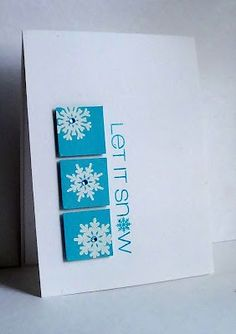 Gorgeous Winter Card by Lisa at I'm in Haven