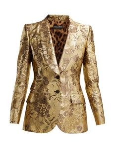 Dolce & Gabbana Single-breasted floral-jacquard blazer anyone have an extra lying around Blazer Fashion, Fashion Outfits, Fasion, Ashley Clothes, Suits For Women, Women Wear, Gold Blazer, Skirt Outfits, Couture