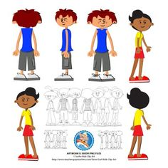 I LOVE these free clipart kids.