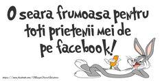 O seara frumoasa pentru toti prietenii mei de pe facebook! Optimism, Facebook, Positivity