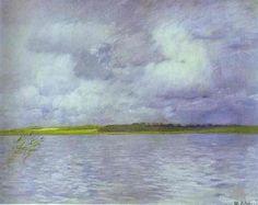 Cloudy Day, huile de Isaac Levitan (1860-1900, Lithuania)