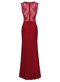 b97755ef776f MISSMAY Women's Long Evening Wedding Bodycon Cocktail Party Dress XL Red I  Love Fashion, Evening