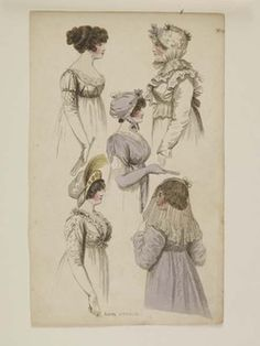 Museum of London | HAND COLOURED ENGRAVING London Dresses Maker: Fashions of London and Paris Production Date: 1802 ID no: 2002.139/1336