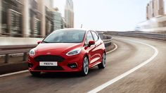 red Next Generation Ford Fiesta ST-Line exterior front view