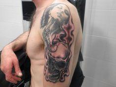 #tattoo #skull #arm