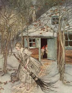 Strawberries in the Snow by Arthur Rackham