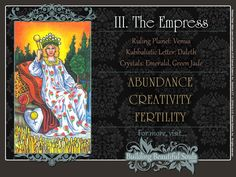 Get in-depth meanings for The Empress card! Upright & reversed Tarot Card Meanings included for a more detailed Tarot Reading.