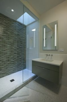 contemporary bathroom by dSPACE Studio Ltd. skylight in shower....