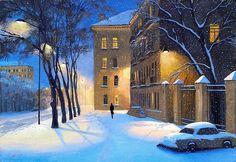 А. Болотов. Зимний вечер