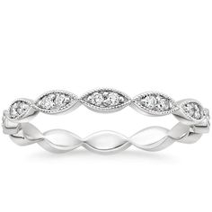 18K White Gold Cadenza Eternity Diamond Ring (1/4 ct. tw.) from Brilliant Earth