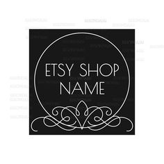 Shop Logo - Etsy Branding - Etsy Store Branding - Shop Icon - Etsy Shop Icon - Calligrapy Logo Style 3 by RhondaJai on Etsy