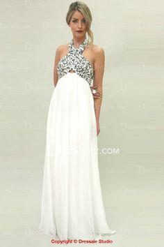 4dee95f5df5 Distinctive Halter Draped Evening Dress with Distinctive Bodice White Maternity  Maxi Dress