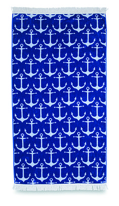 Anchor Velour Beach Towel