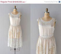 25% OFF SALE.... vintage 1920s dress / silk 20s dress / Toujours, Toujours dress. $1,008.75, via Etsy.
