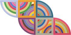 Frank Stella, Harran II, 1967. Polymer and fluorescent polymer paint on canvas. 120 × 240 in. (304.8 × 609.6 cm). Solomon R. Guggenheim Museum, New York; gift, Mr. Irving Blum, 1982. © 2015 Frank Stella/Artists Rights Society (ARS), New York