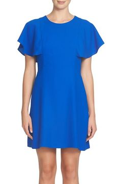 Free shipping and returns on CeCe Skylar Flutter Dress at Nordstrom.com. Fluttery sleeves add charming movement to a simple and versatile shift.