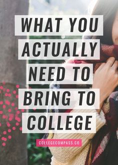 Want to know what you should really bring to college? Save this pin and click through to read my list of college dorm room essentials.