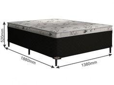 Cama Box Casal Somopar Conjugado 55cm de Altura - Grécia com as melhores condições você encontra no Magazine Anacandeani. Confira!