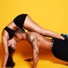 Haha, another benefit from getting fit - can't wait to try out some acro yoga / workouts with the boyfie!