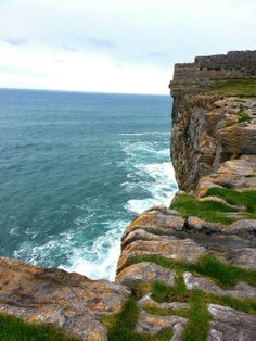Dun Aengus, an ancient ruin, in Inis Mor, the largest of the Aran Islands, Ireland