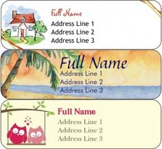 How to Print Free Return Address Labels | More Return address ...